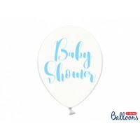 thumb-Ballonen baby shower blauw (6 stuks)-1