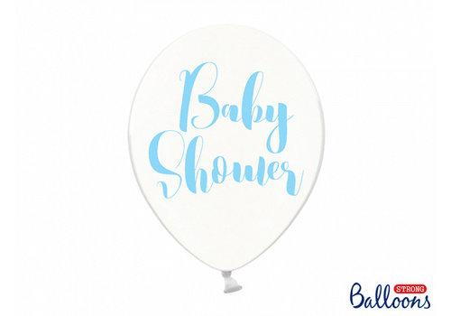 Ballonen baby shower blauw (6 stuks)