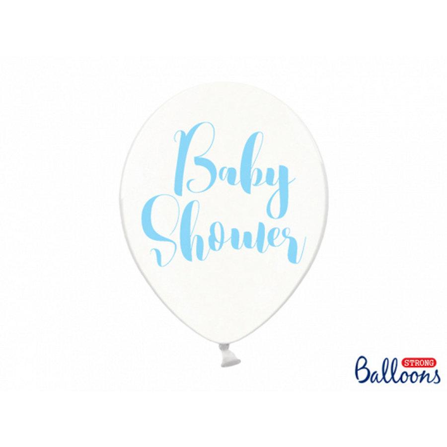 Ballonen baby shower blauw (6 stuks)-1