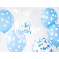 thumb-Ballonen baby shower blauw (6 stuks)-2