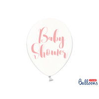 thumb-Ballonen baby shower roze (6 stuks)-1