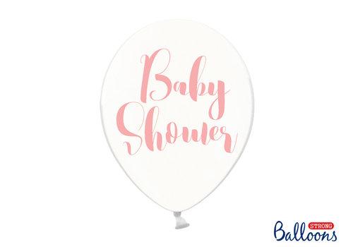 Ballonen baby shower roze (6 stuks)