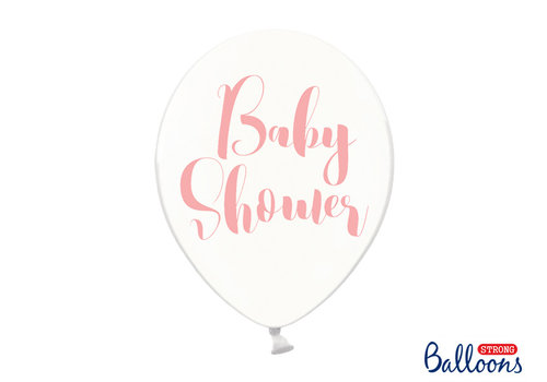 Ballons baby shower rose (6 pièces)