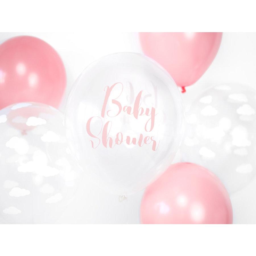 Ballonen baby shower roze (6 stuks)-2