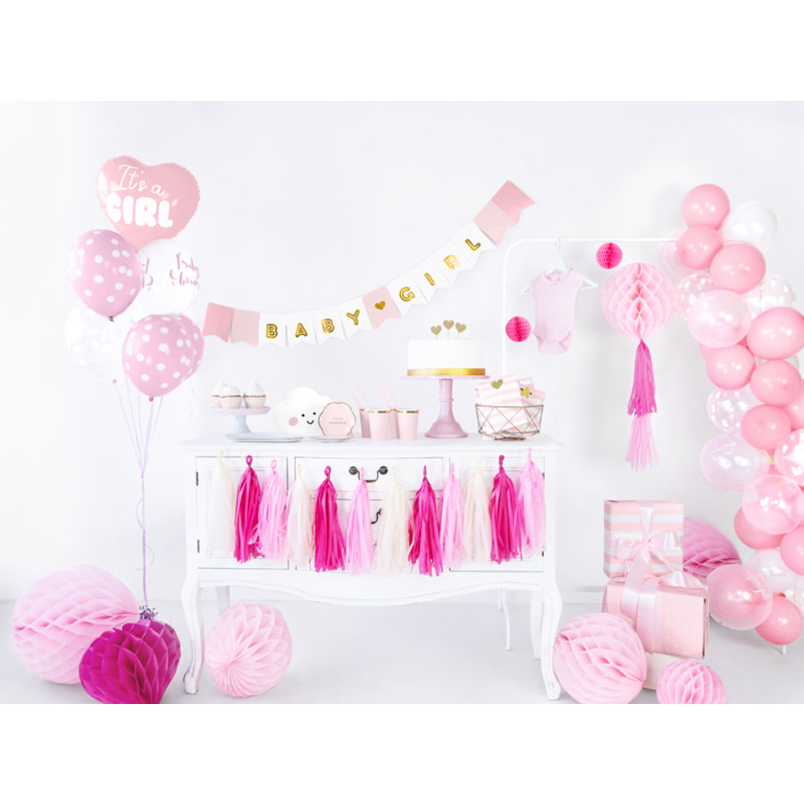 Ballons its a girl rose (6 pièces)-2