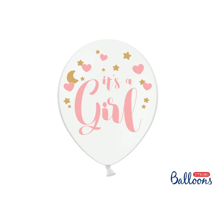 Ballonen its a girl roze (6 stuks)-1
