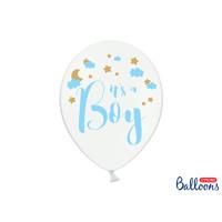 thumb-Ballonen its a boy blauw (6 stuks)-1