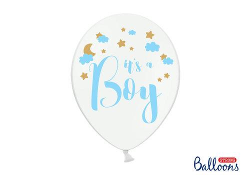 Ballonen its a boy blauw (6 stuks)
