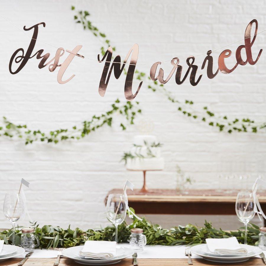 Guirlande Just Married rosé-2