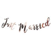 thumb-Guirlande Just Married rosé-1