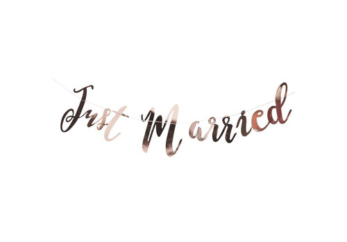 Guirlande Just Married rosé