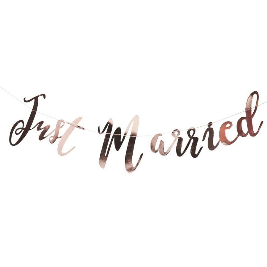 Guirlande Just Married rosé-1