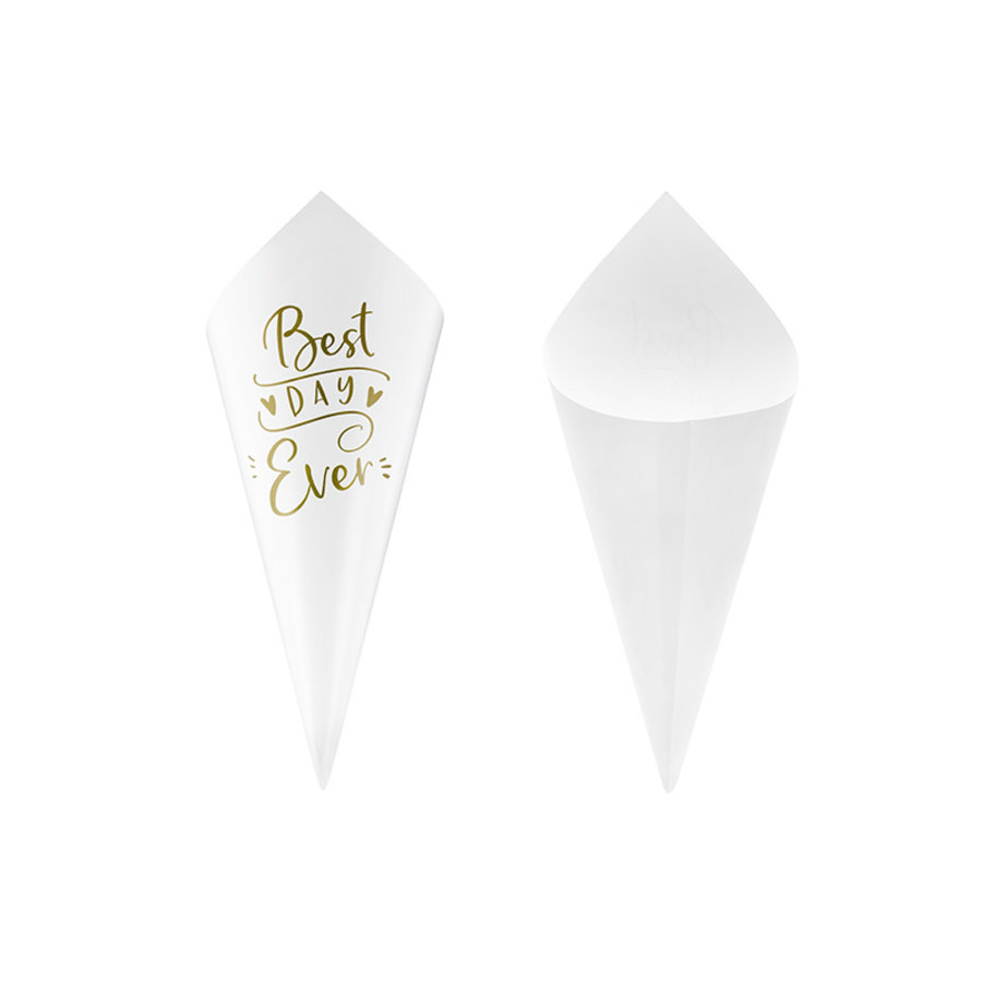 Confetti cones best day ever (10 stuks)-1