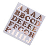 Perfect Decorations Stickers alphabets rose gold (71 pcs)
