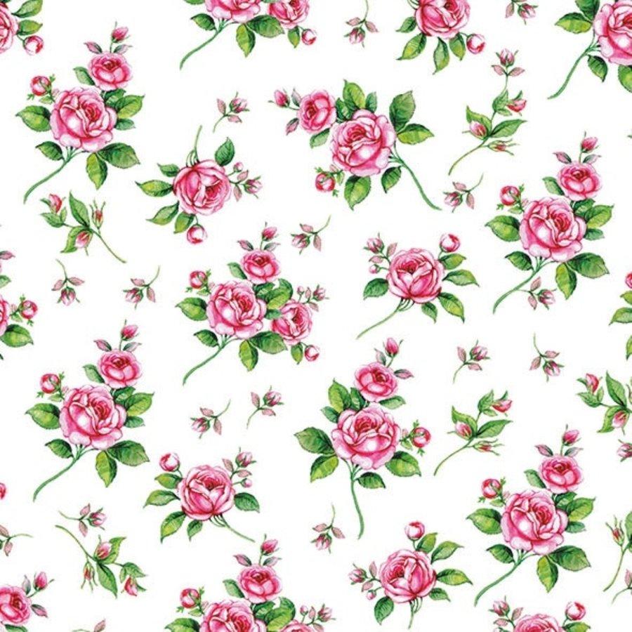 Serviette en papier rose  (20 pcs)-1
