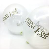 thumb-Transparante ballonnen prinses (6 stuks)-2