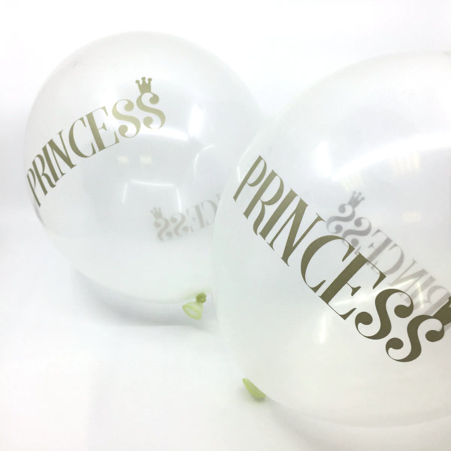 Transparante ballonnen prinses (6 stuks)-2