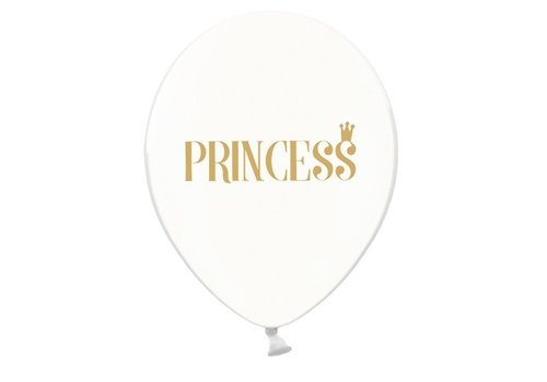 Transparante ballonnen prinses (6 stuks)