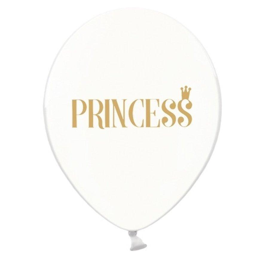 Transparante ballonnen prinses (6 stuks)-1