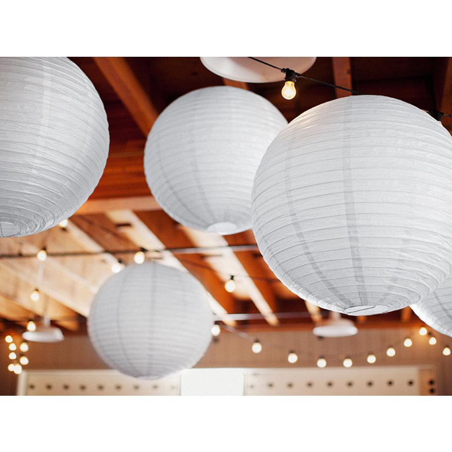 Lampion blanc diamètre 25 cm-2