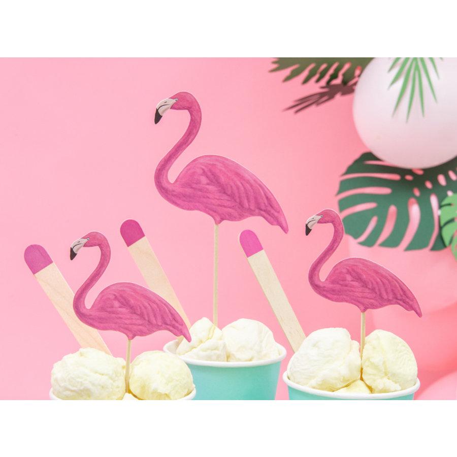 Cake topper flamingo (6 st.)-2