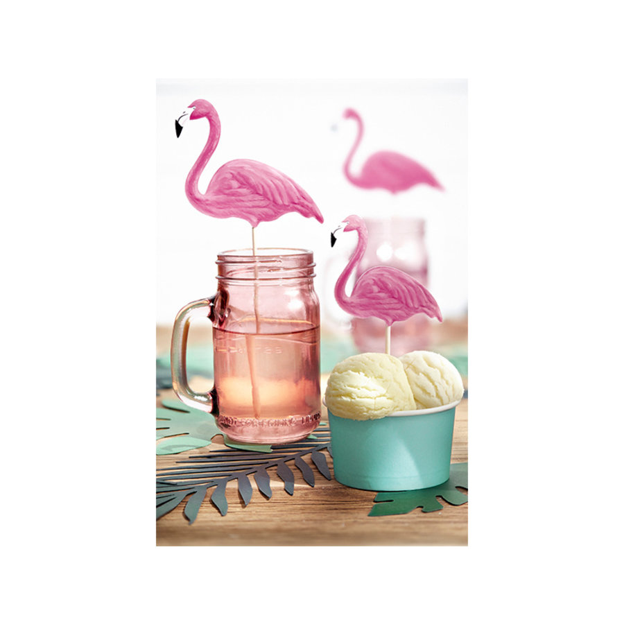 Cake topper flamingo (6 pcs)-3