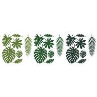 thumb-Feuille vert tropical  (21pcs)-1