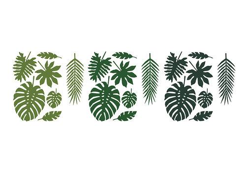 Feuille vert tropical  (21pcs)