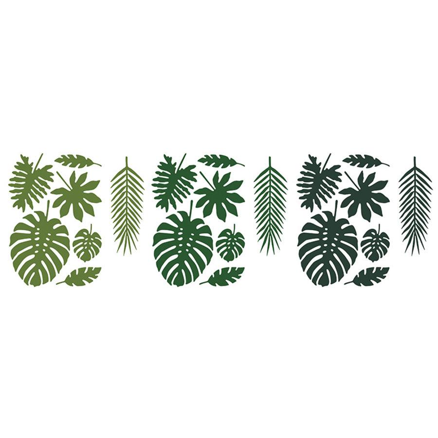 Feuille vert tropical  (21pcs)-1