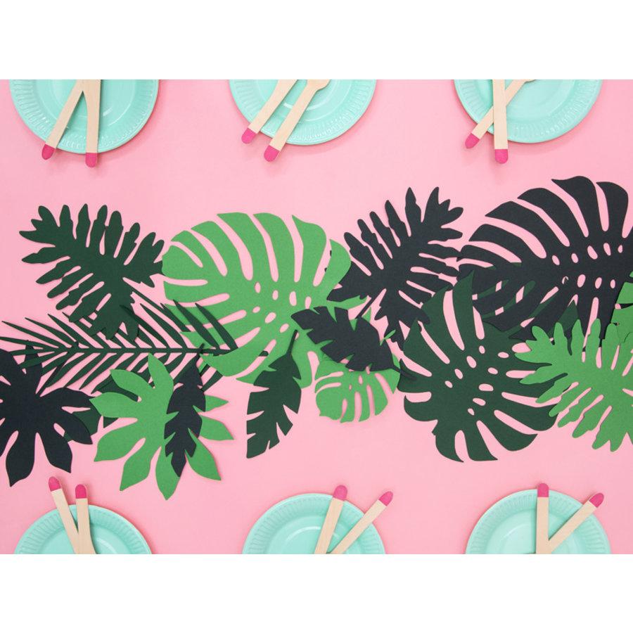 Feuille vert tropical  (21pcs)-2