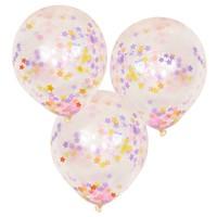thumb-Ballons confettis étoiles pastel (5pcs)-1
