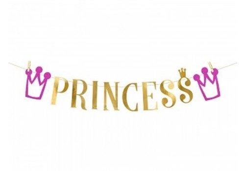 Slinger Princess roze met goud (90 cm)