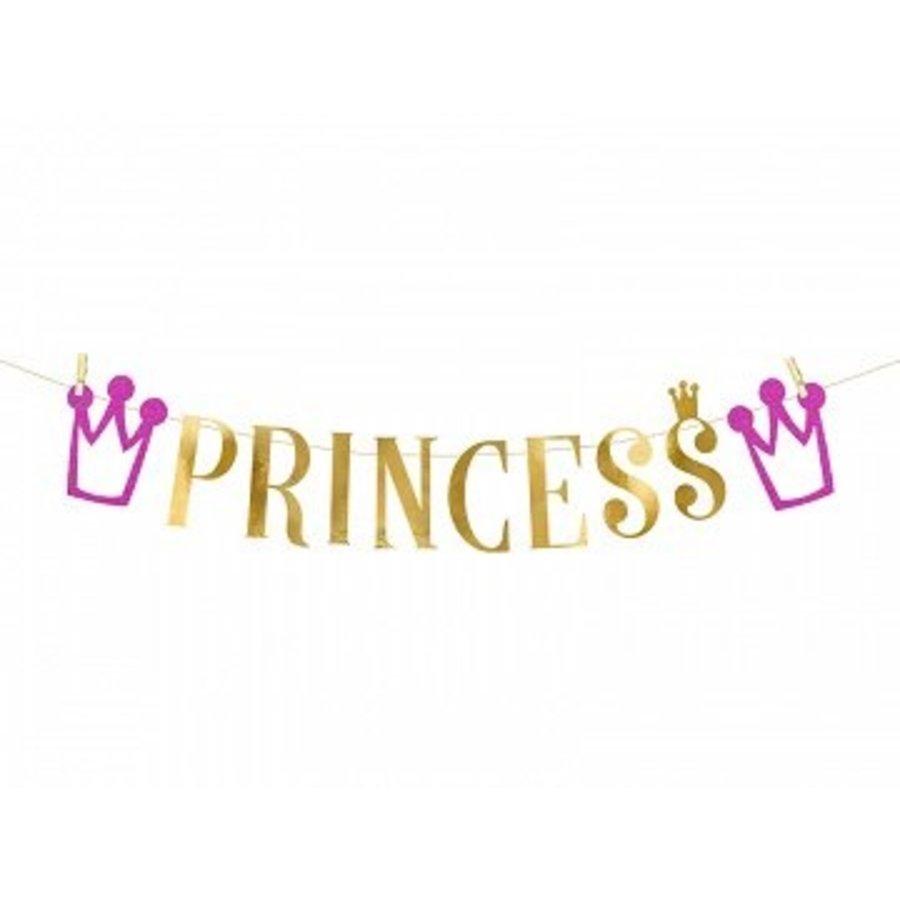 Slinger Princess roze met goud (90 cm)-1