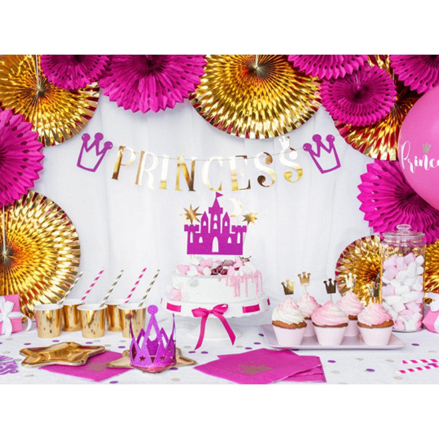 Slinger Princess roze met goud (90 cm)-2