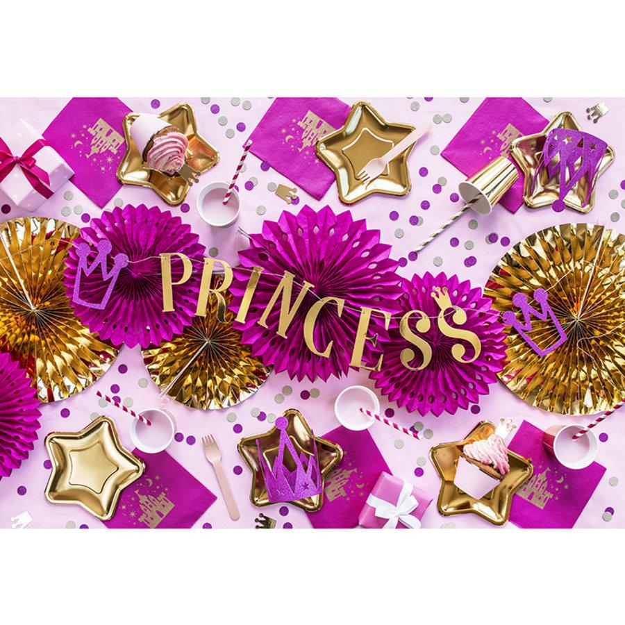Slinger Princess roze met goud (90 cm)-3