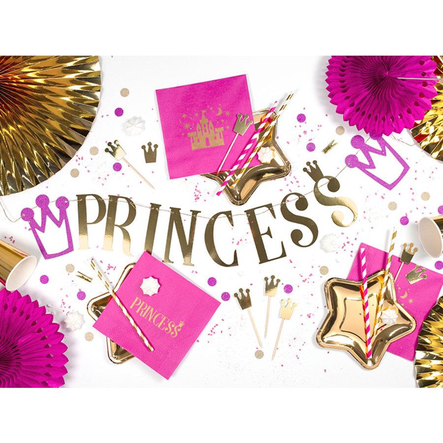 Slinger Princess roze met goud (90 cm)-4