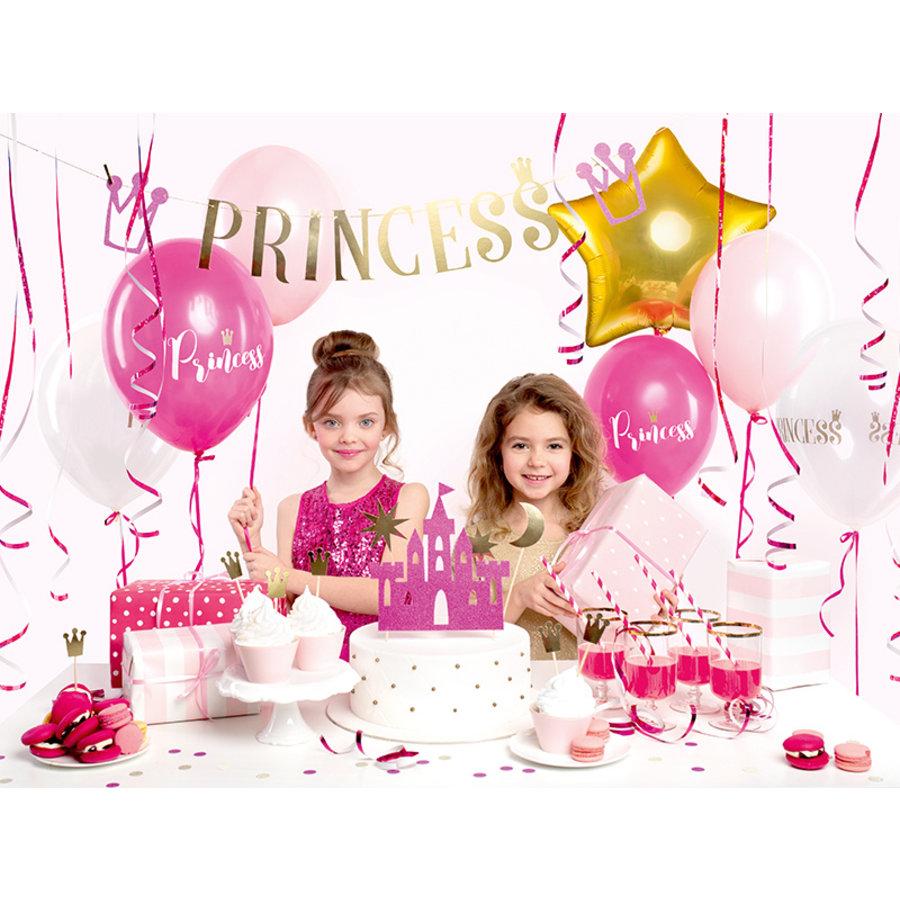 Slinger Princess roze met goud (90 cm)-5