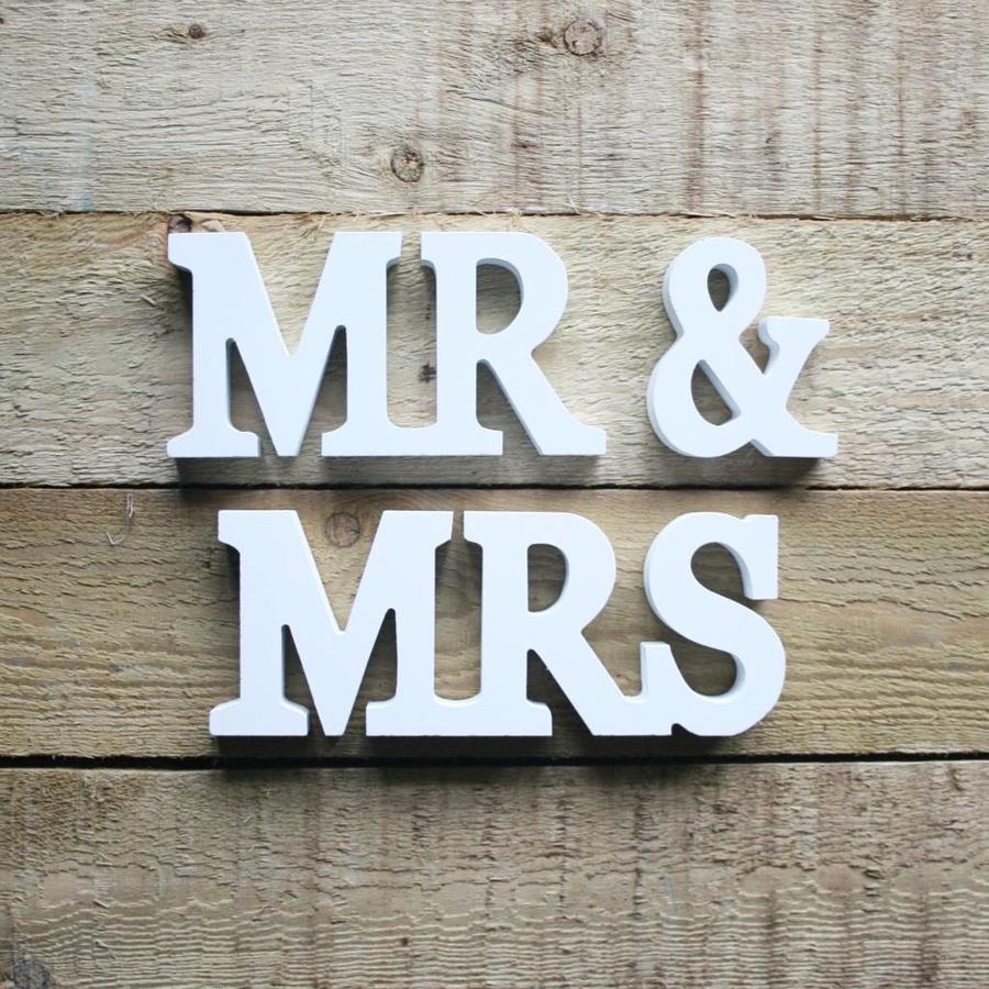Mr en Mrs houten letters-2