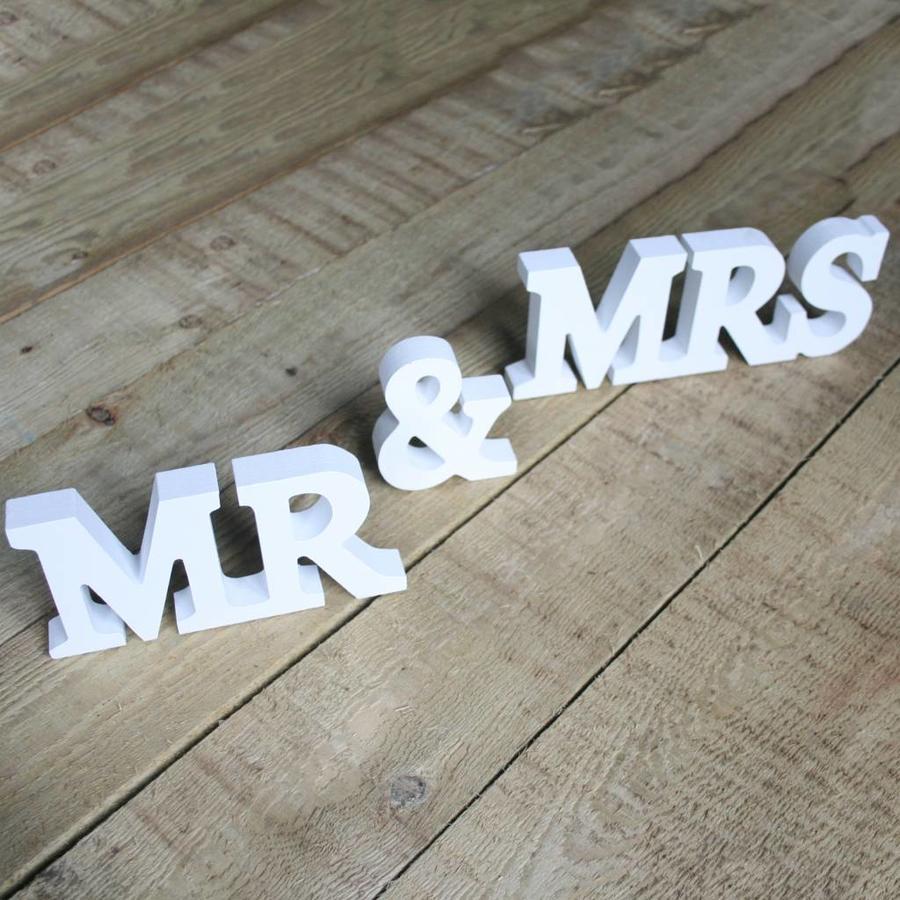 Mr en Mrs houten letters-3