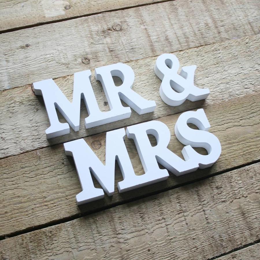 Mr en Mrs houten letters-4