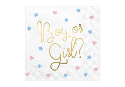 Servetten Boy or Girl (20 st.)