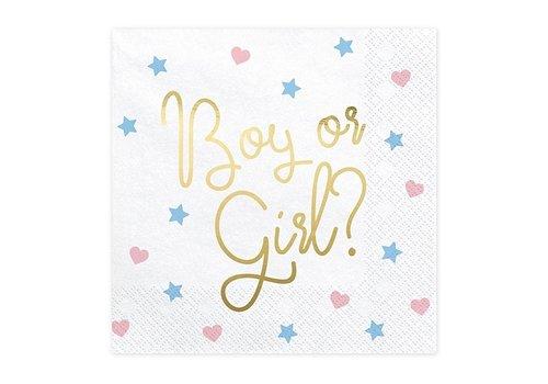 Serviettes Boy or Girl (20 pcs)