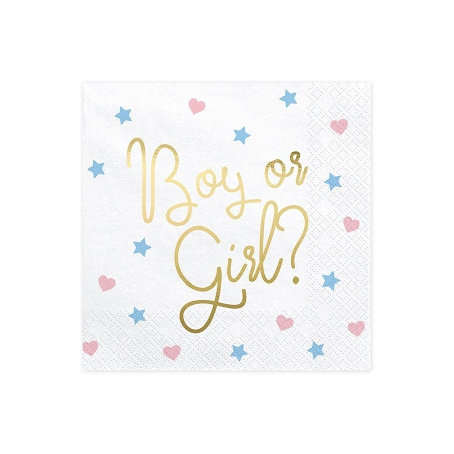 Serviettes Boy or Girl (20 pcs)-1