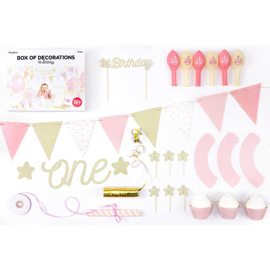 Partybox 1er anniversaire rose-3