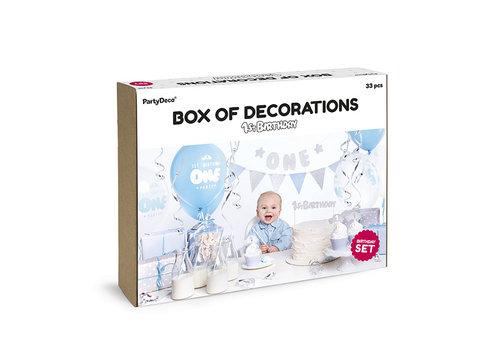 Partybox 1er anniversaire bleu