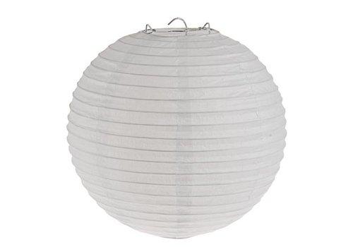 Lampion wit diameter 20 cm (2 stuks)