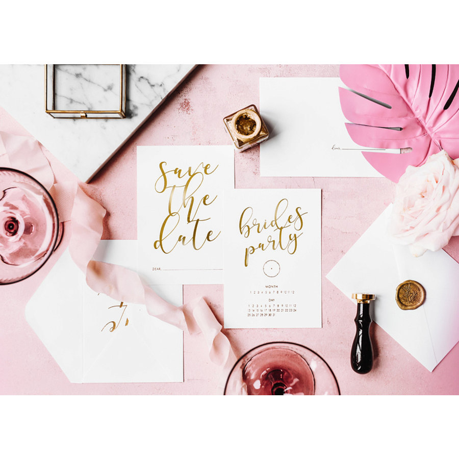 Carte Save the date brides party (10 pcs)-3