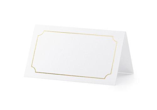 Plaatsnaamkaartje  goud  (10 stuks)