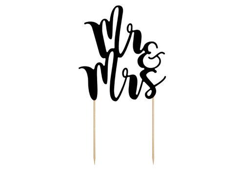 Caketopper Mr and  Mrs noir