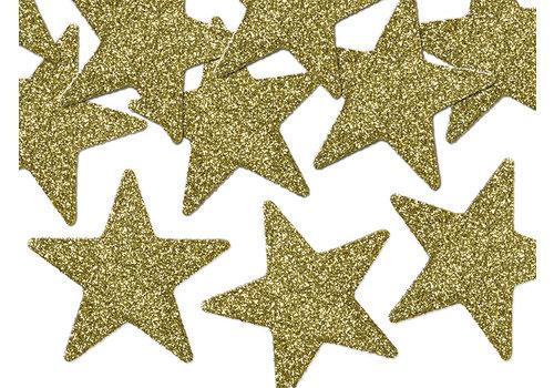 Tafelconfetti goud sterretjes 5 cm (8 st.)